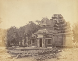General view of old Dravidian temple at Konnur, Belgaum District